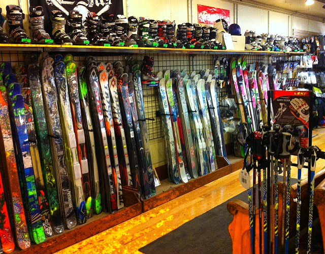 Skis at Appalachian Outdoors