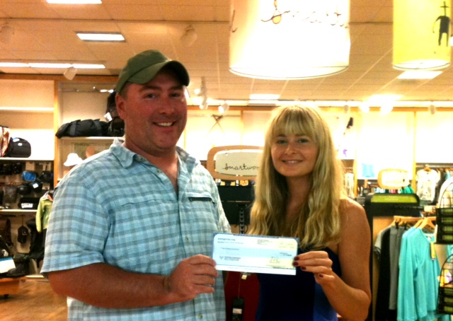Chris Hennessy, Clearwater Conservancy, Maggie Wolszczan, Appalachain Outdoors, Patagonia sponsorship check