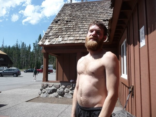 No one picked me up near Crater Lake, OR, even though I had just showered…