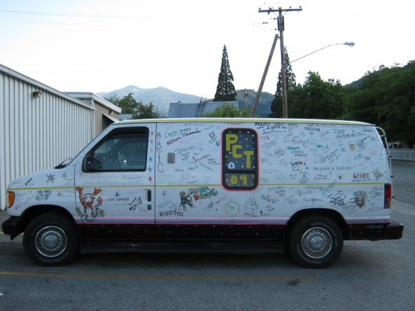Chuck Norris and Tigger's PCT 2009 Van. Photo by Dave Gantz